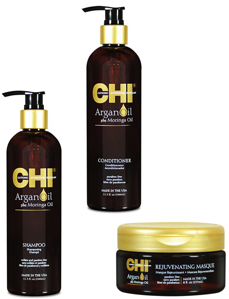 Набор CHI Argan Oil с маслом арганы и дерева моринга (3 позиции)