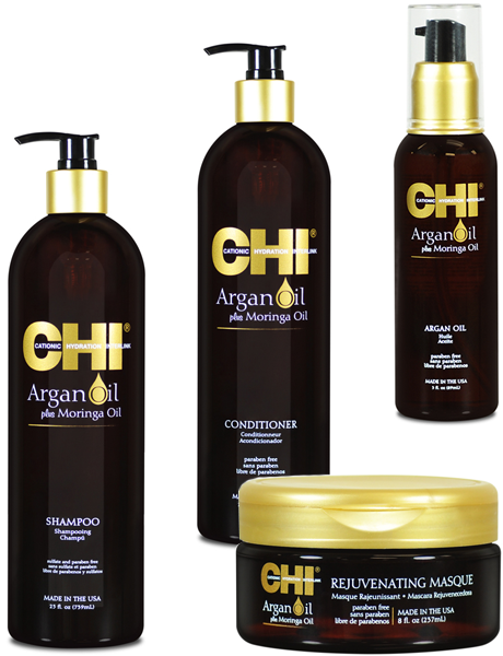 Набор CHI Argan Oil с маслом арганы и дерева моринга (4 позиции)