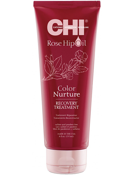 CHI Восстанавливающая маска с маслом шиповника для окрашенных волос CHI Rose Hip Oil Recovery Treatment